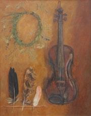Stilleben mit der Violine.