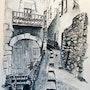 Rue Duaphine à La Voulte sur Rhône (d'après une photo de Ge Rard). Jacques Dortel
