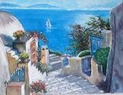 Santorini sea.