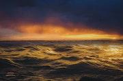 Lumières du soir en plein océan.