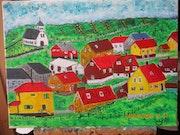 Petit village d'islande.