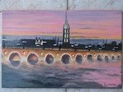 Le pont de pierre de Bordeaux.