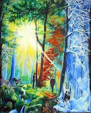 Die 4 Jahreszeiten - The 4 seasons - Les 4 saisons.