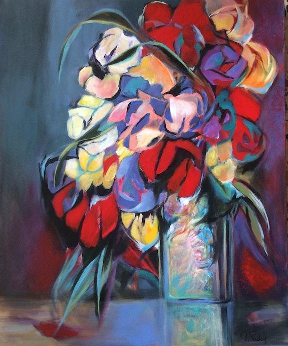 Les tulipes rouges. Michèle Padoy Michèle Padoy