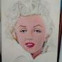 Marilyn portrait en vison blanc. Pierre-Yves Quéméner