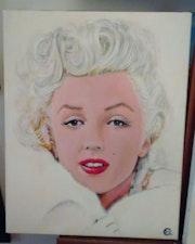 Marilyn portrait en vison blanc.