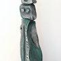 Femme et enfant (patine vert-argenté). Annie B.