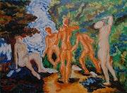 Los bañistas. Santi Goñi