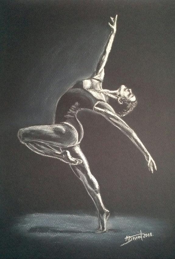 Danseuse contemporaine. Alain Devred Alain Devred