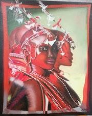 Cérémonie tribale de jeunes Massaïls. M. Bodens