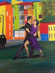 Tango en la Boca Buenos Aires.