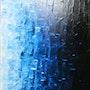 Peinture contemporaine : Fondu bleuté.. Jonathan Pradillon