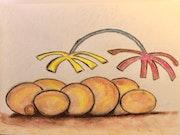 Vision von Früchten ohne Blätter.
