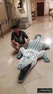Crocodile Silicone. Eddy Maniez
