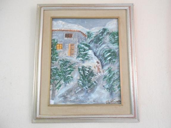 La neuge dans les collines.  Jeanlouis Briançon