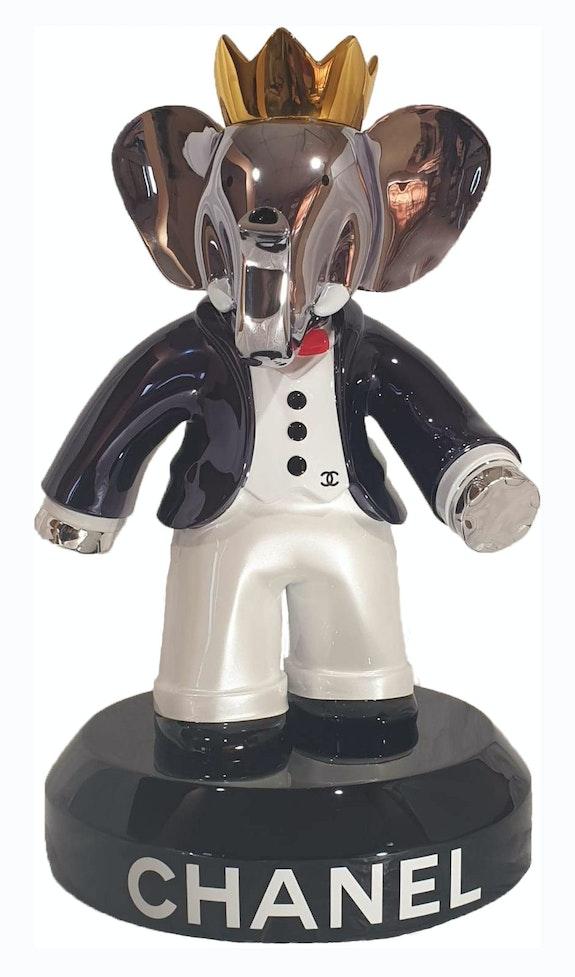 Babolex Chanel White with Titanium Pedestal 60 cm. Vincent Faudemer Vincent Faudemer
