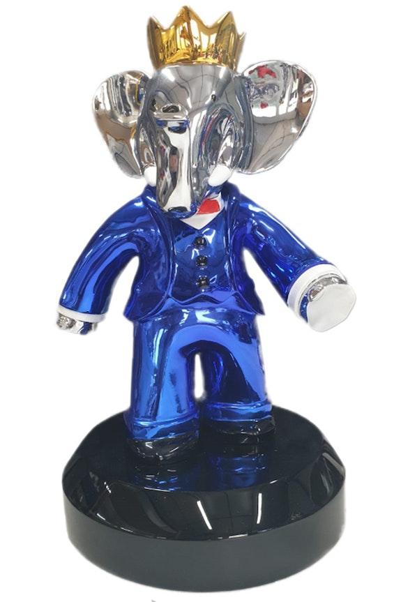 Babolex Classique Bleu Socle Noir 35 cm. Vincent Faudemer Vincent Faudemer