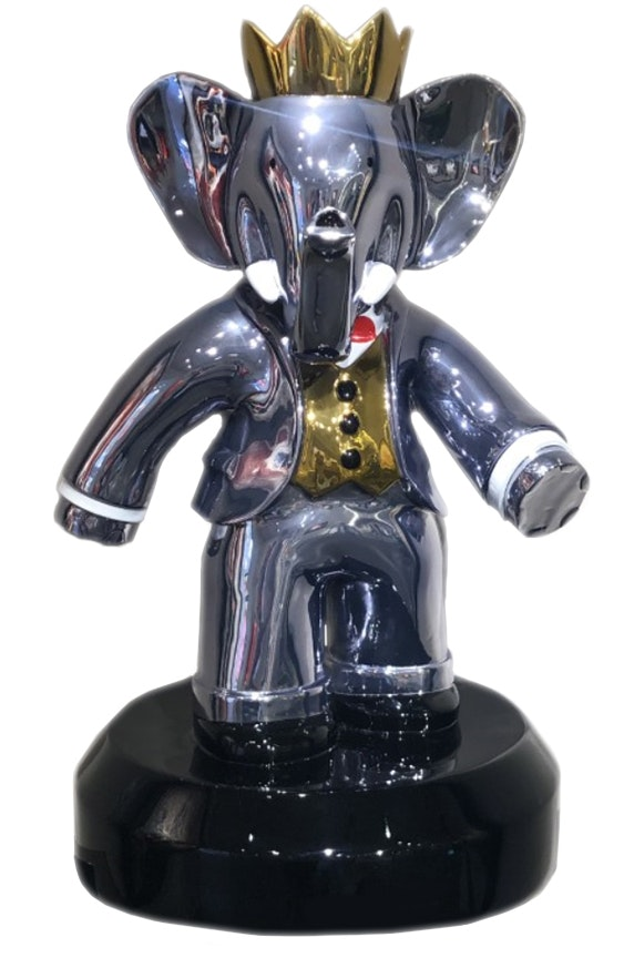 Babolex Classic Full Chrome with Black pedestal 35 cm. Vincent Faudemer Vincent Faudemer