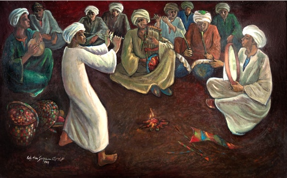 Nubian dance. Lotfi Abou Sariya Lotfisar