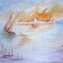 «La lagune» --- Aquarelle 04 --- Visite à Venise dans les pas de William T…. «Loulou» A. Mt. Vankerk. Mt