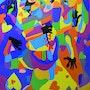 Best Friends, Painting by Rajat verma, rajat verma best painting acrylic on canvas. Rajat Verma