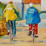Cyclotouristes à l'île de Ré.