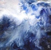 «Cosmogonie du flot» aquarelle.