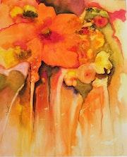 Grosse fleur orange.