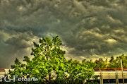 Eerie drama in the sky.