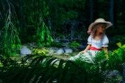 Kleine Verschnaufpause im Wald.