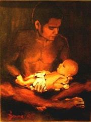Le père et le nouveau né.
