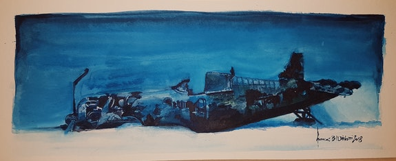 Pacifique corsaire f4u4 le repos. François Baldinotti Forangeart F. Baldinotti Peintre De l'air
