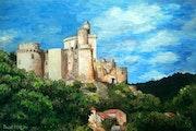 Bonaguil - 40x60 cm - acrylic painting - Pascal Furlan side Akun.