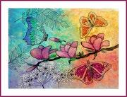 Art nouveau - papillons.