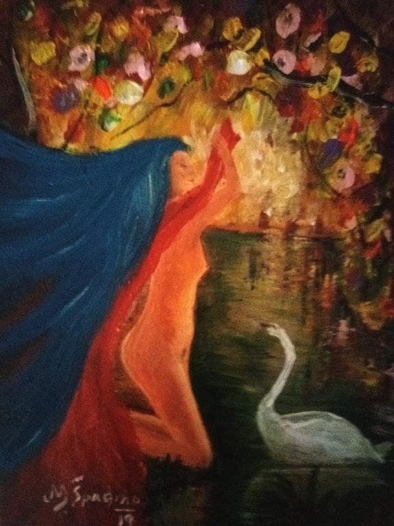Dama y cisne. Miroslav Spadrna Pintorcheco