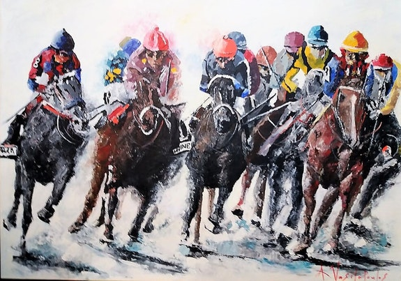 Horce races. Akis Vasilopoulos A. V.