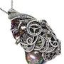 Labradorite Steampunk Wire-Wrapped Pendant in Sterling Silver. Heather Jordan Jewelry