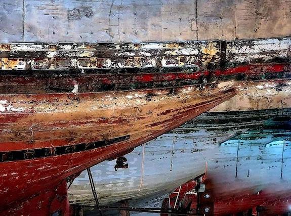 Les barques au soleil couchant. Allal Sahbi Bouchikhi Allal Sahbi Bouchikhi