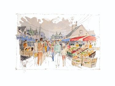 Or2-94 Le marché de Saint Martin. Denis Moulin