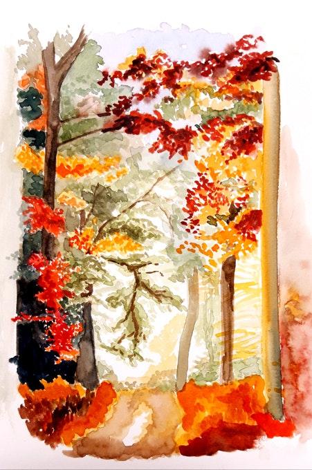 Chemin d'automne. Claude Beretti Claude Beretti