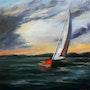 Sailboat in Kithira at Dusk.