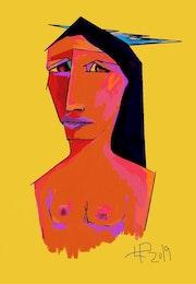 Amérindienne Aux Louise Seins Nus.