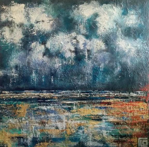 Mer orage. Flo Flo Artiste Peintre