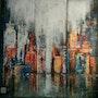 La ville. Flo Artiste Peintre
