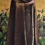 Saint Fiacre, Catholic devotional art, original acrylic painting. Nick Smith Paintings