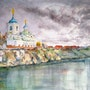 White Church by the River. Karine Andriasyan