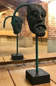 Scultpure visage (serie expo racines), Masque ou Guelle Cassée?.