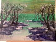 L'hiver sur la lac. Sylviane Rolland