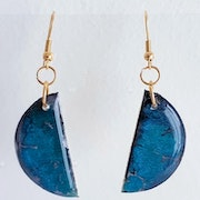 Jewelry earrings / half blue moon. Sandyana Creations