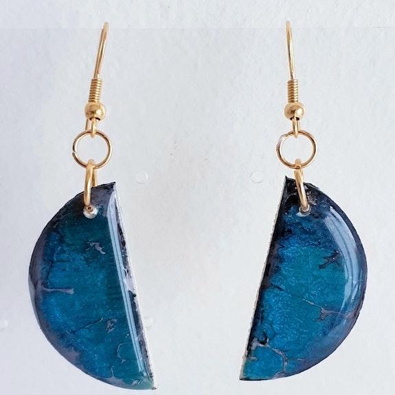 Jewelry earrings / half blue moon. Sandyana Créations Sandyana Creations